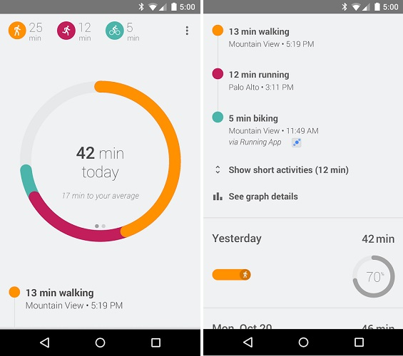 Google Fit makes its way to the Play Store, ready to battle