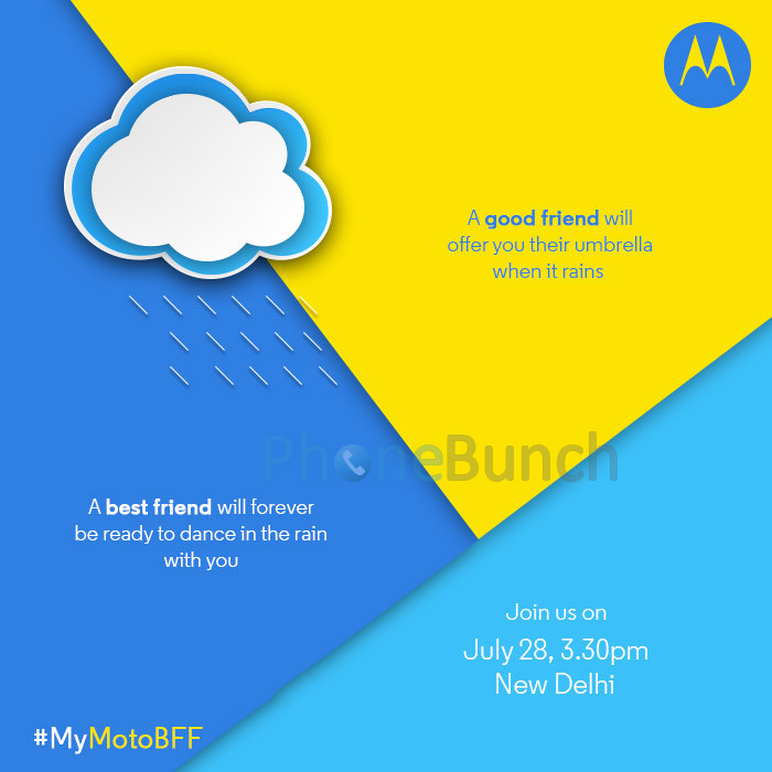 Motorola India Launch Invite July 28