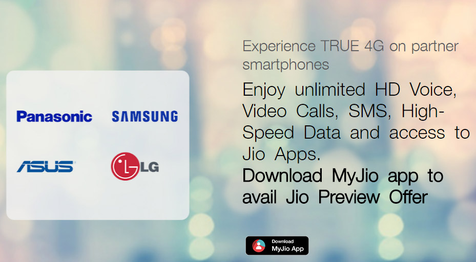 Reliance Jio Asus Panasonic