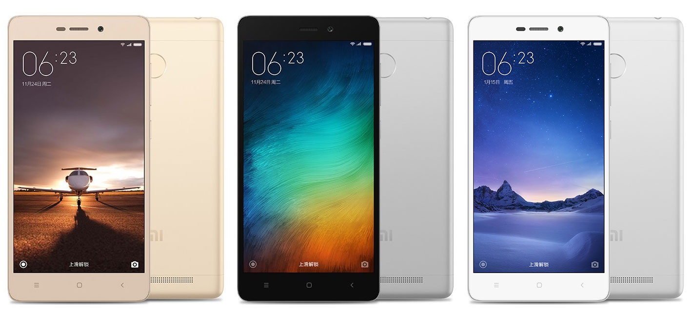 Xiaomi Redmi 3s Colors Available