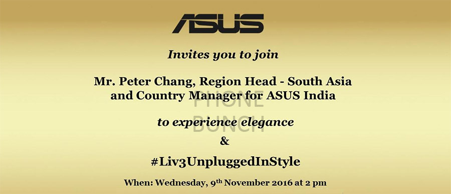 asus zenfone 3 max india launch invite