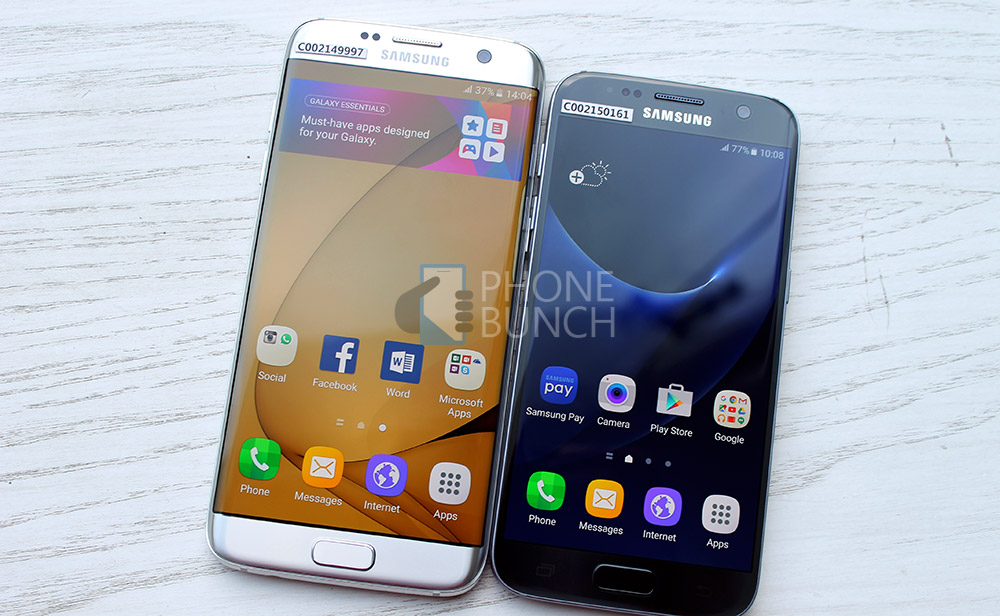 galaxy s7 and galaxy s7 edge