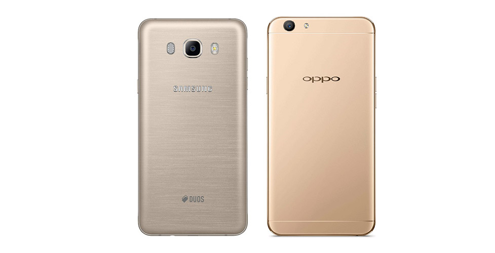 samsung galaxy j7 2016 vs oppo f1s design