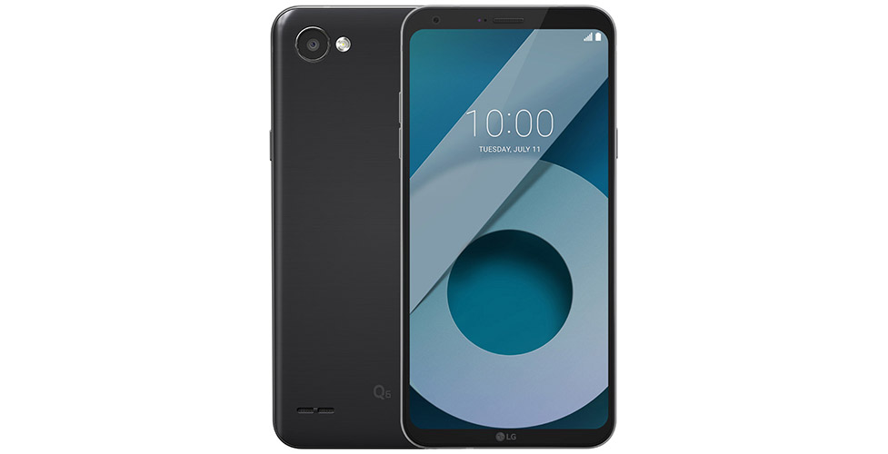 lg q6 full vision display black color