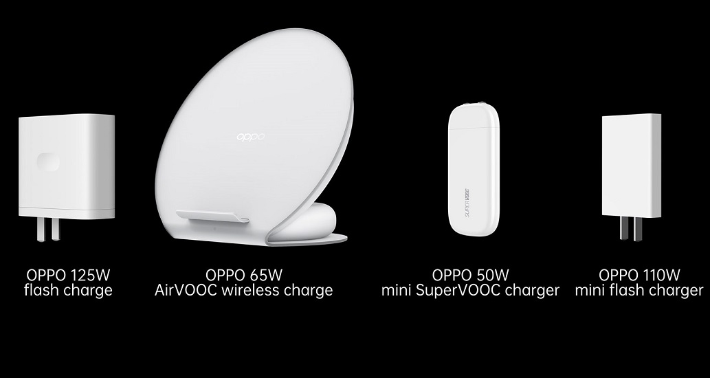 OPPO 125W flash charge 65W AirVOOC 50W mini SuperVOOC
