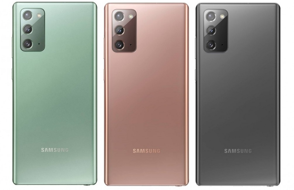 Samsung Galaxy Note 20 colors
