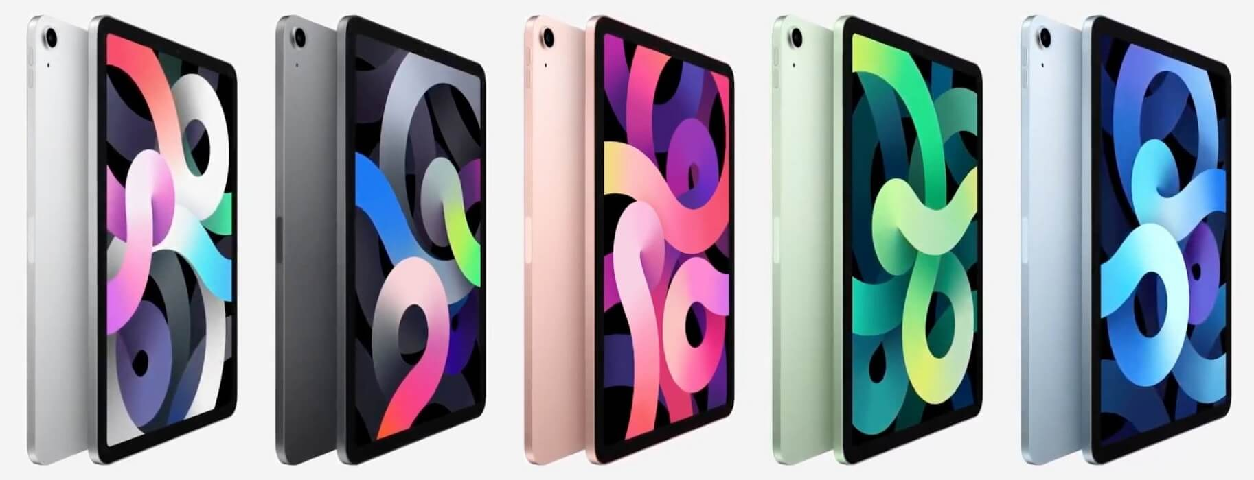 Apple iPad Air 4th Gen colors