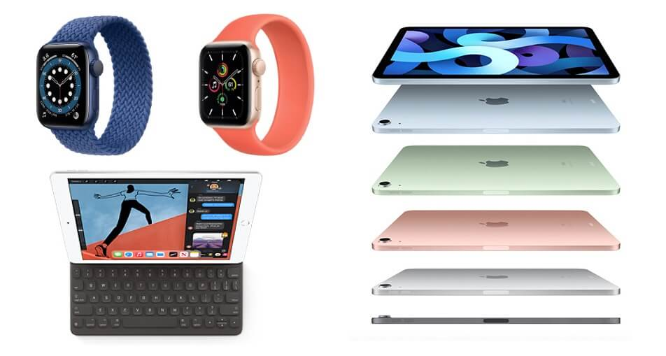 Apple watch 6 se ipad 8 air
