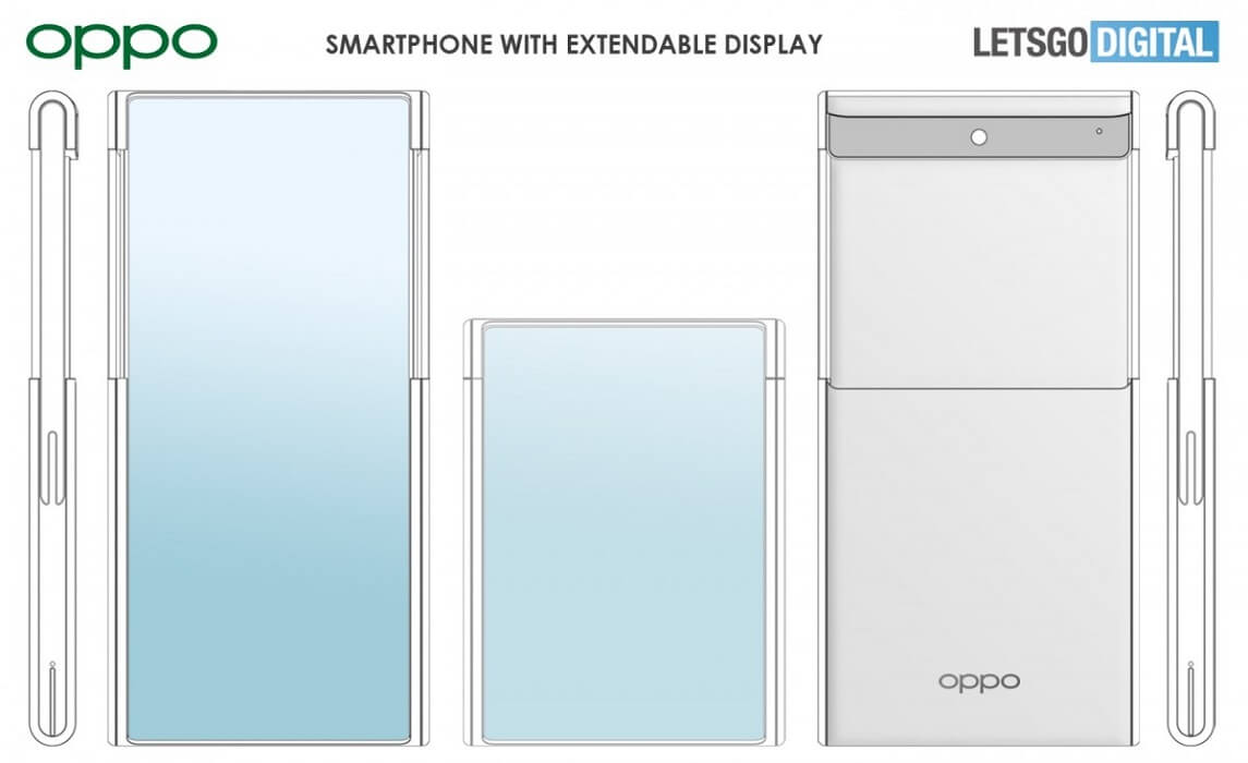 Oppo extnable display concept phone
