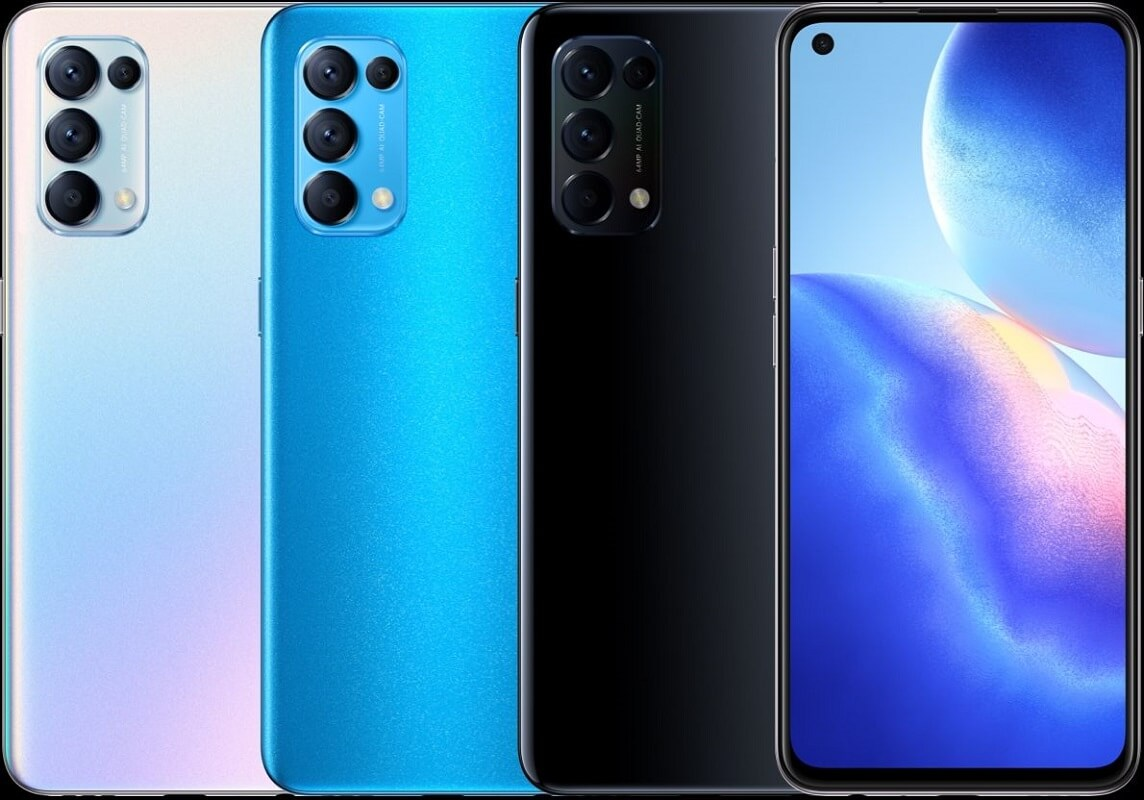 Oppo Reno5 colors