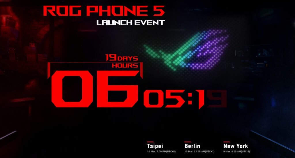 ROG Phone 5 launch invite Global