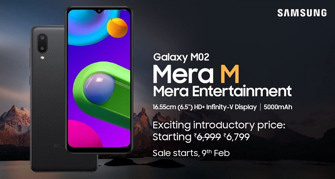 Samsung Galaxy M02 launch india