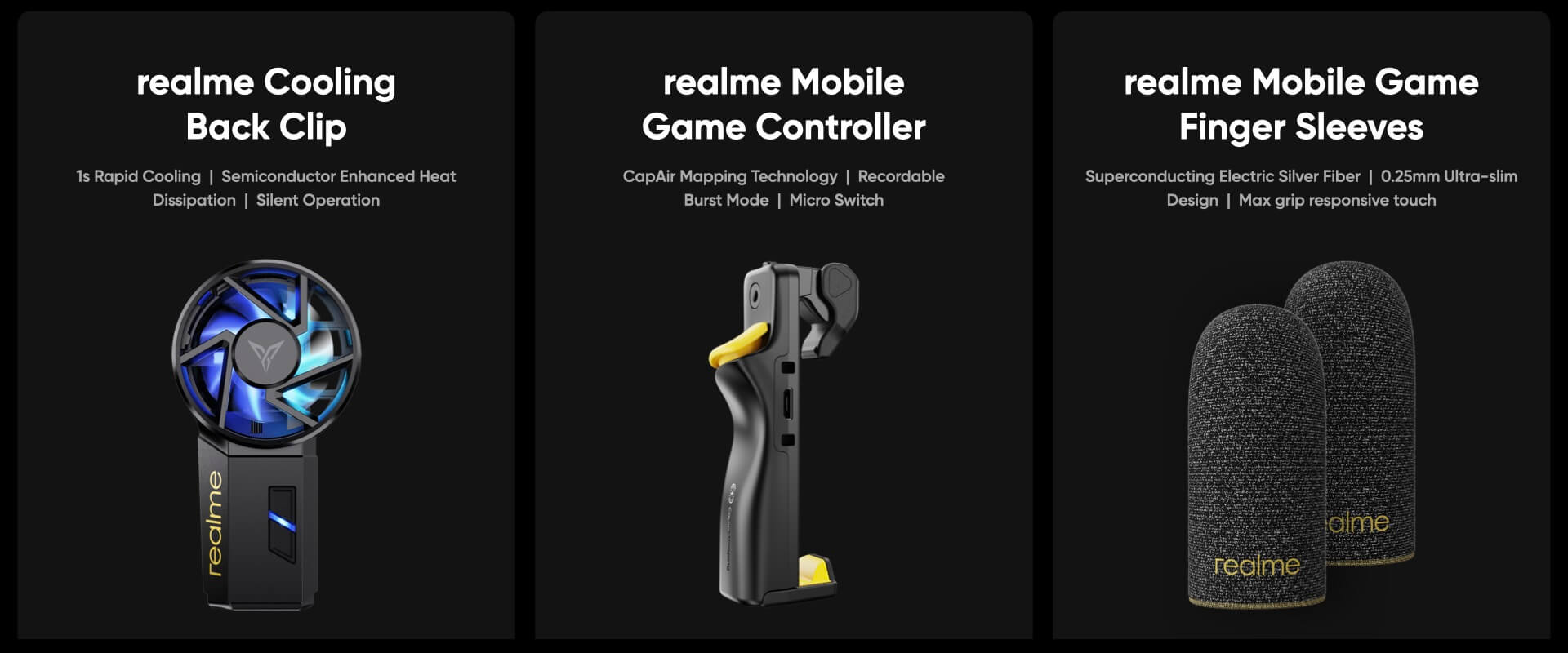 realme cooling fan mobile game controller finger sleeves