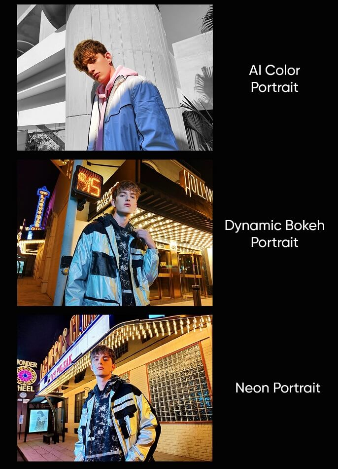 realme 8 series Neon Portrait Dynamic Bokeh Portrait AI Color Portrait