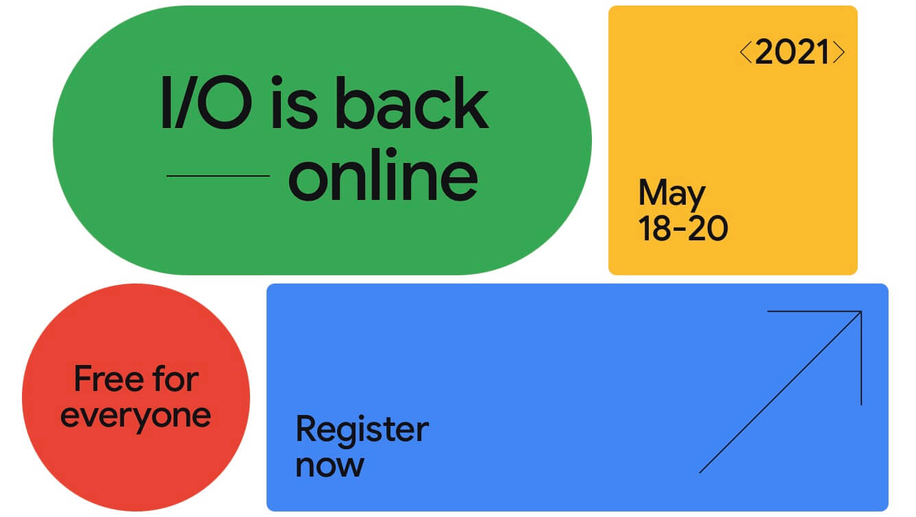 Google I O launch event register
