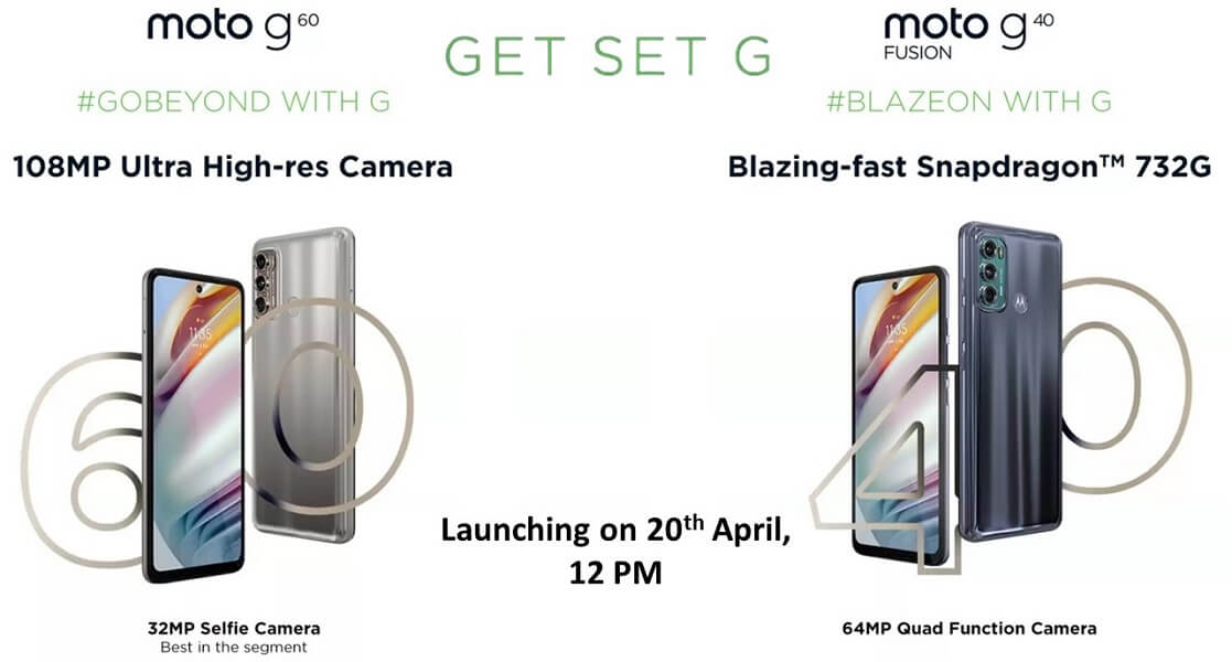Moto G60 and G40 Fusion launch date india