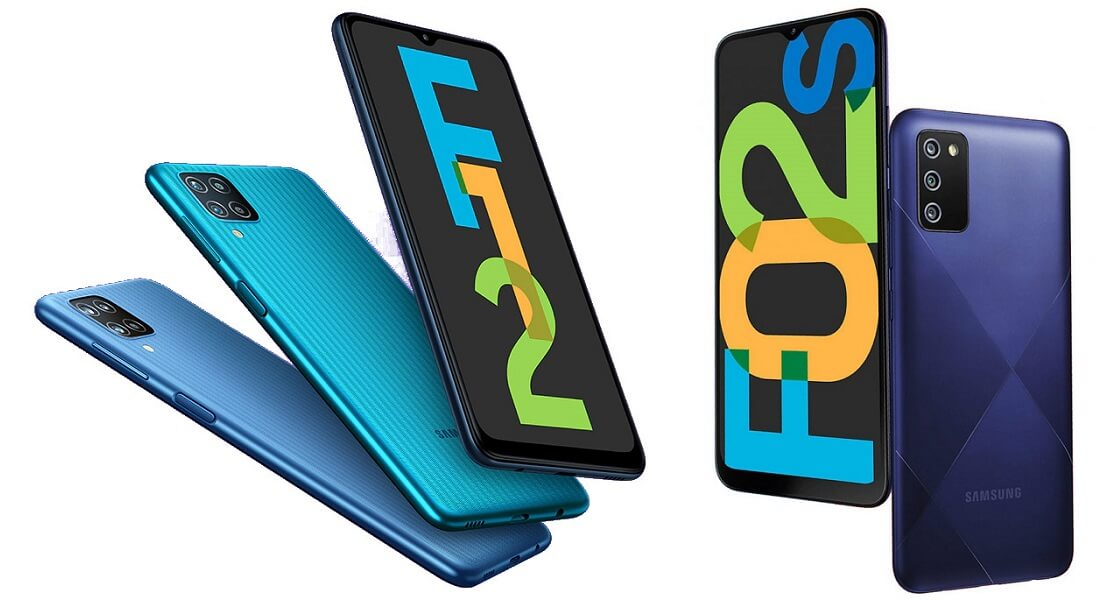 Samsung Galaxy F12 and F02s launch india